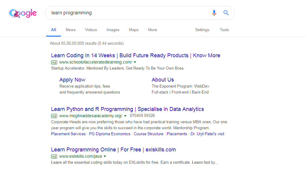 Learn programming niche for blogging search result