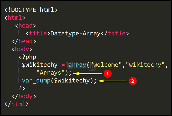 php 8 array data type