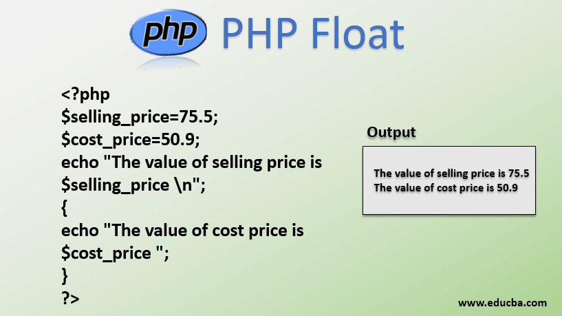 PHP 8 Floats